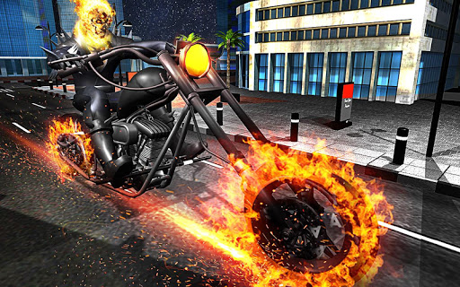 Ghost Bike Hero Blaze Fire Skull Rider Battle Games (apk) free download for Android/PC/Windows screenshot