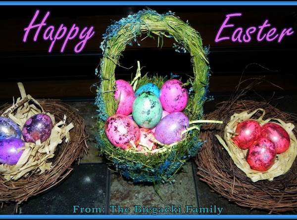 Decorate all red eggs or do a few and the rest other colors. If...