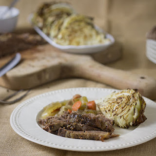 Slow Cooked Corned Beef Brisket and Roasted Cabbage Recipe