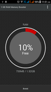 1 GB RAM Memory Booster Screenshot