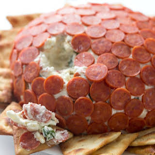 Pepperoni Pizza Cheese Ball.