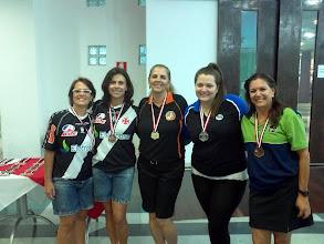 Photo: Pódio All Events Feminino - 1.ª divisão (Lúcia Vieira, Léa Castro, Roseli Santos, Roberta Rodrigues, Titila Alvarez)