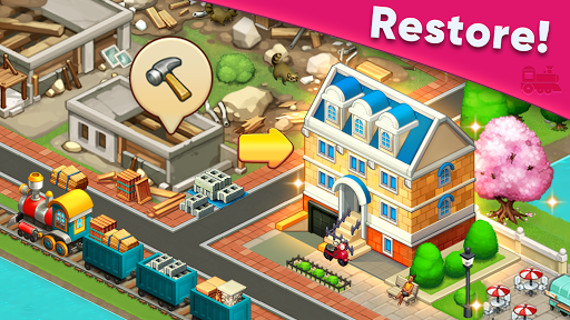 Train town - 3 match merge puzzle games screenshots 12