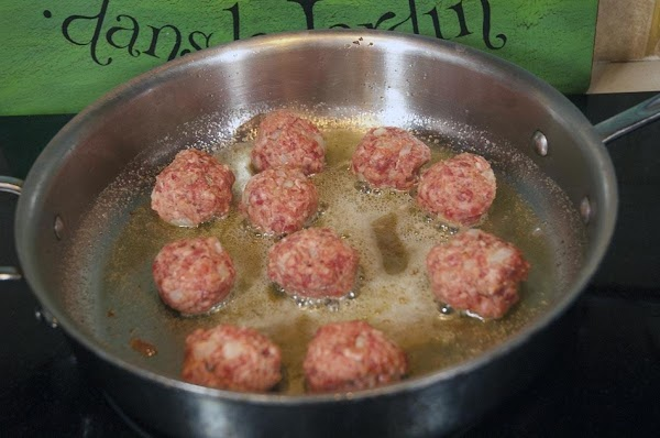 Add the meatballs to the pan.