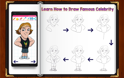 Learn How to Draw Chibi Famous Celebrities 1.2.2 screenshots 12