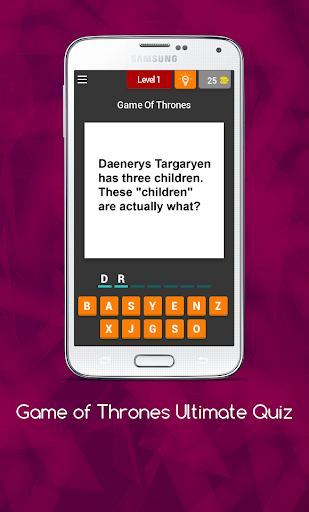 Quiz for Game of Thrones Bonus