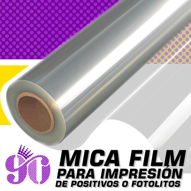 venta de Mica, acetato o filmina para serigrafia