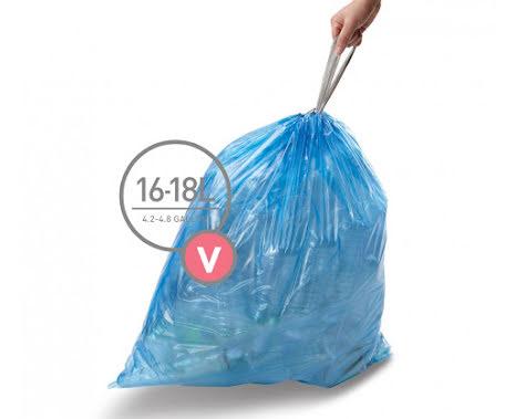 Avfallspåsar till Simplehuman 3 x pack med 20 påsar(60-påsar)  TYP V