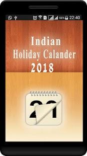 Indian Holiday Calendar 2018 - náhled
