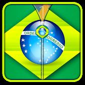 Brazil Flag Zipper UnLock APK for Bluestacks