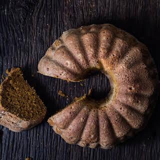 Pumpkin Bourbon spiced bundt cake.