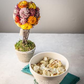 Cauliflower with a Coconut Curry Sauce.