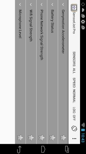 Sensor List screenshot 5