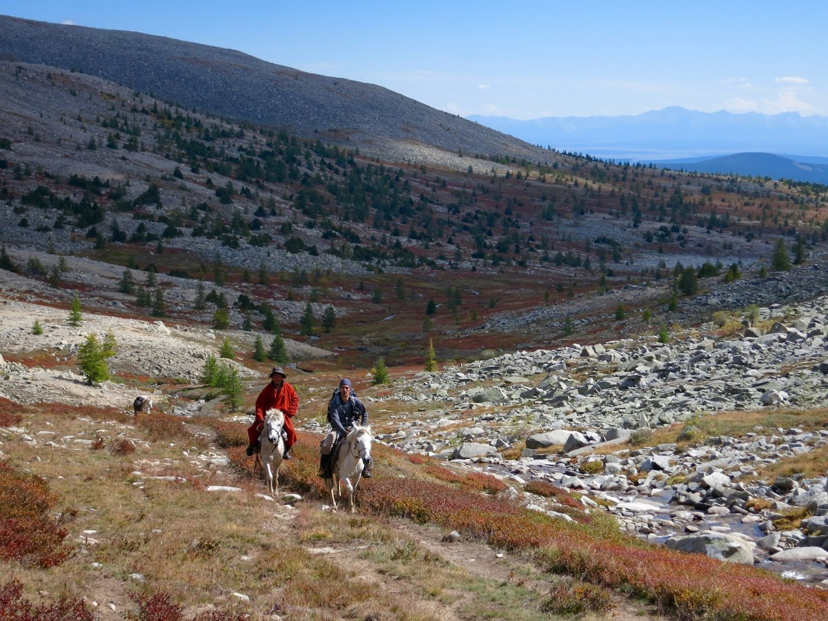 Promenade à cheval dans la vallée, Bruno avec Oda