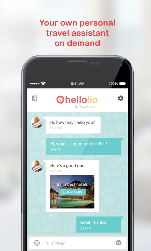 HelloLio by Travelio.com- screenshot