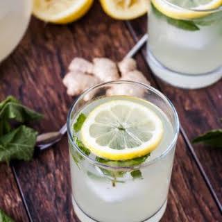 Fresh Mint Ginger Lemonade.