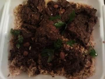 Queen's Jerk chicken & seasoned rice with beans