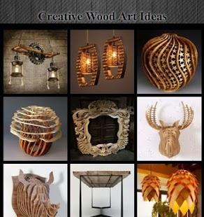 Kreativní nápady umění z dřeva - náhled