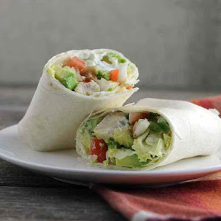 Chicken Wrap with Savory Cream Cheese Spread.
