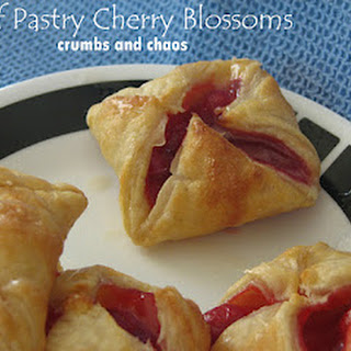 Puff Pastry Cherry Blossoms