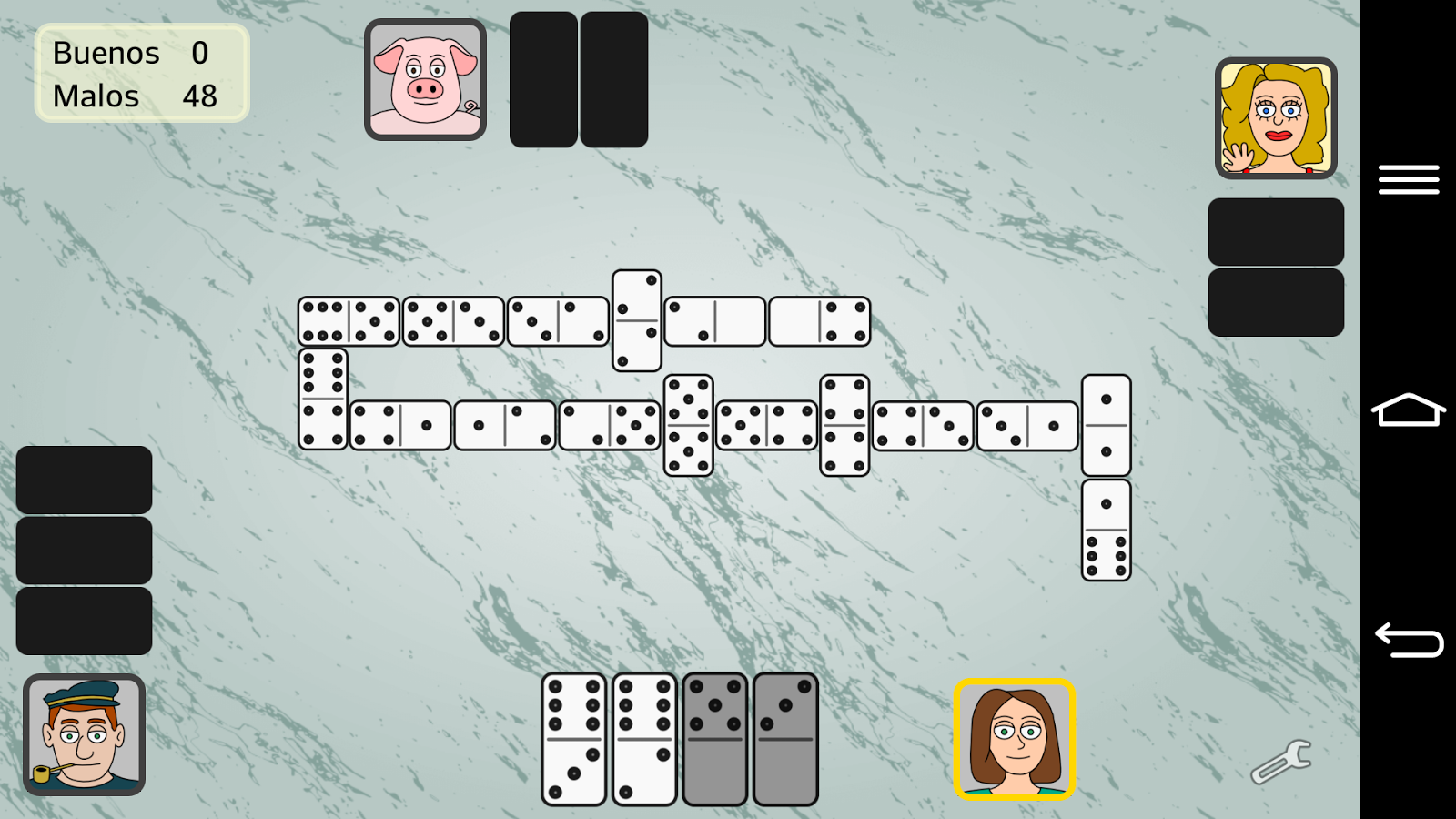 Partnership Dominoes- screenshot