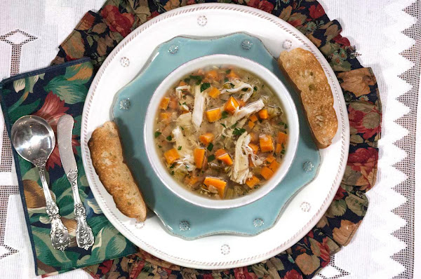 Cold Weather Comfort Food-slow Cooker Chicken Soup Recipe
