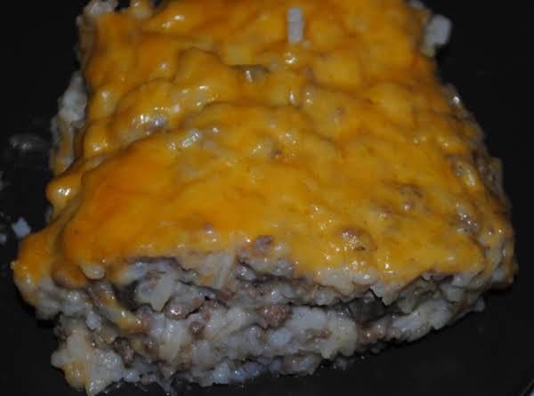 Ground Beef And Rice Casserole