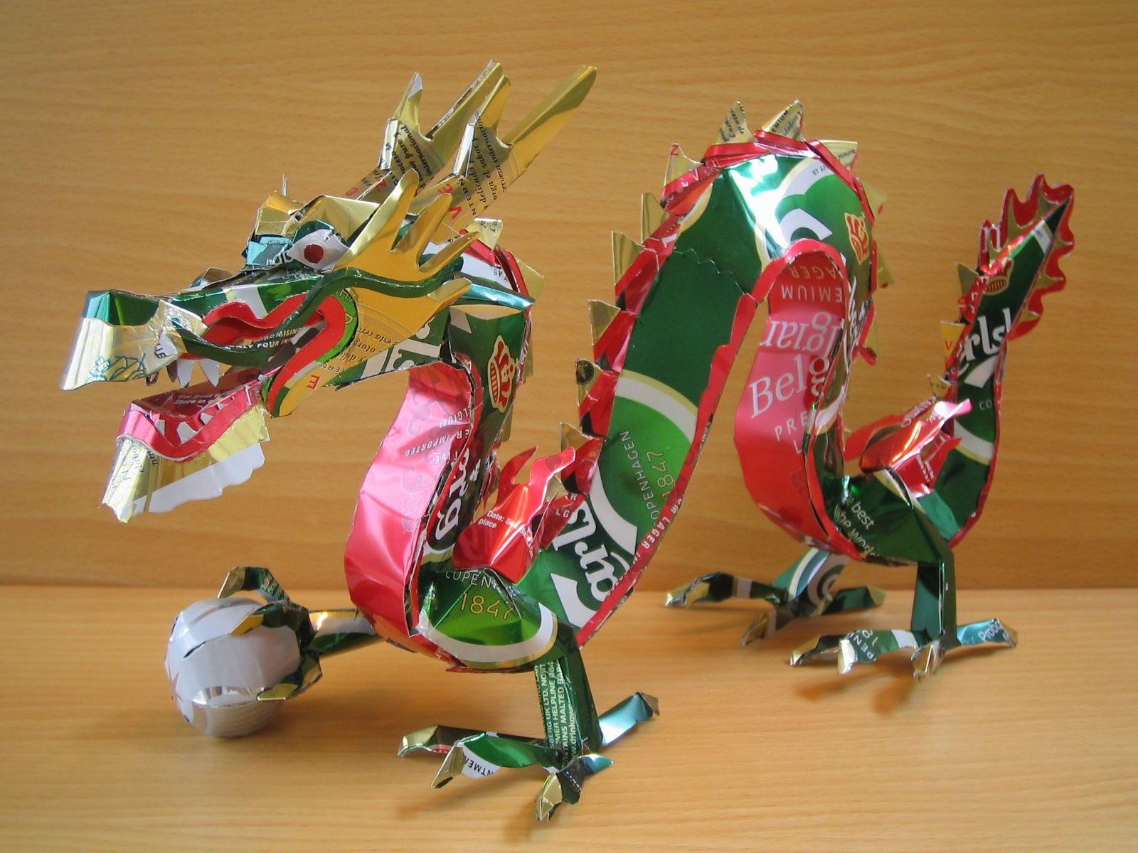 Latas recicladas, cómo hacer esculturas – Animales mitológicos 88