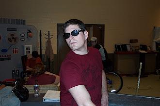 Photo: Paul modeling the latest fashions.