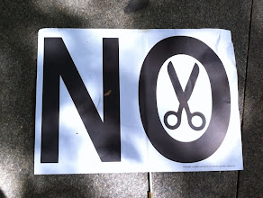 Photo: Huh!  No to scissors? Madrid, Spain.  August 2012.
