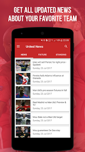 United News - app for Manchester United Fans - náhled
