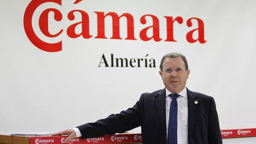 Jerónimo Parra, presidente de la Cámara de Comercio de Almería.