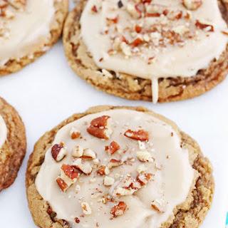 Iced Pecan Praline Cookies