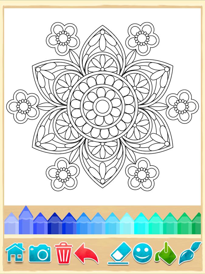 mandala coloring pages screenshot - Mandala Coloring Books