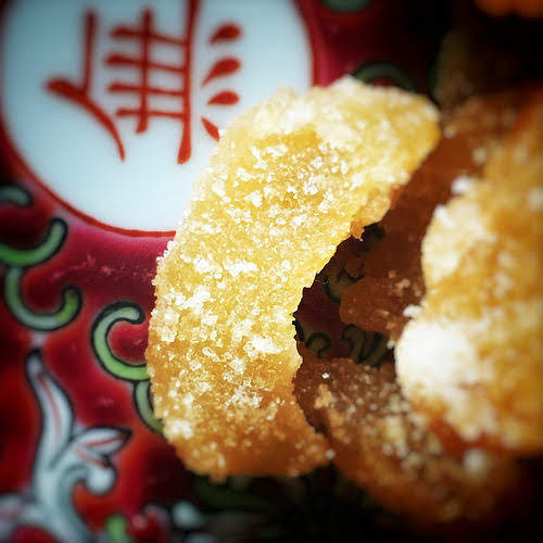 candied ginger, sugar coated, candy, chinese, crystallized ginger, ginger, recipe, 薑糖