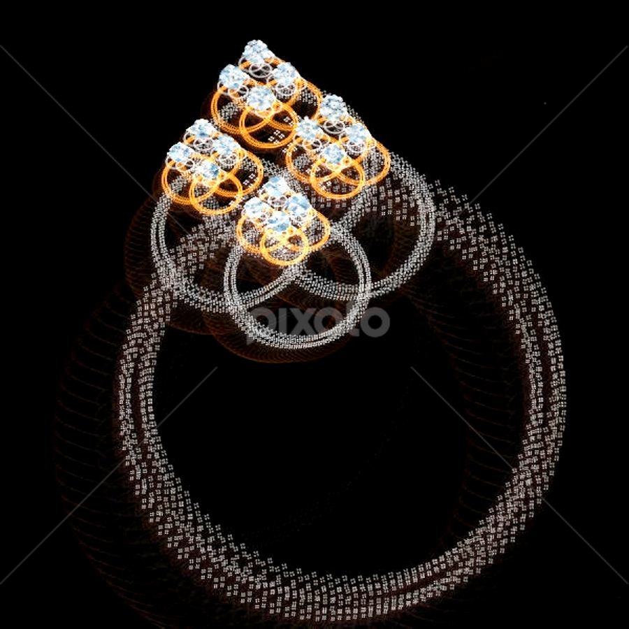 The Unity Ring by Nancy Bowen - Illustration Products & Objects ( ring, diamonds, silver, gold )