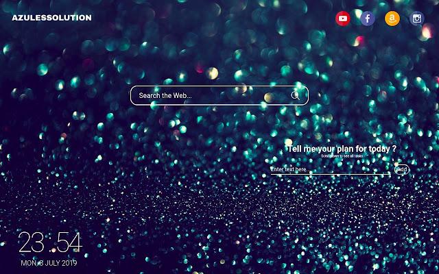 Glitter Wallpaper - New Tab Theme