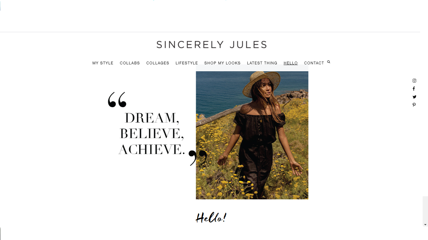 sincerely jules - one of the best lifetyle blogger.