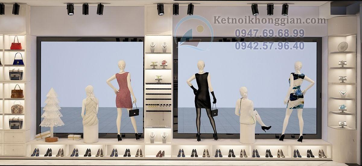 thiết kế shop thời trang nữ ấn tượng với phong cách trẻ
