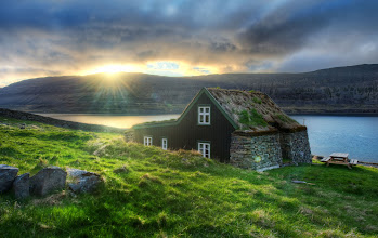 Photo: Sleeping Inn - (exploring a remote fjord in Iceland) - I espied an old house up the side of one of the valleys. It was partially obscured by a hand-built stone wall. I stopped the car and started hiking up the side of the valley to investigate. Once I got up there, I began to think that maybe this place was actually occupied! There were new lace curtains hanging in the windows and everything seemed to be in pretty good repair. So then, I felt like I was intruding, and not just exploring an old ruin. But, it was 3 AM in the morning, and I figured if anyone was indeed inside, they must be fast asleep. So I set up for a shot and then made a hasty elf-like egress. -- from Trey Ratcliff at http://www.StuckInCustoms.com - all images Creative Commons Noncommercial