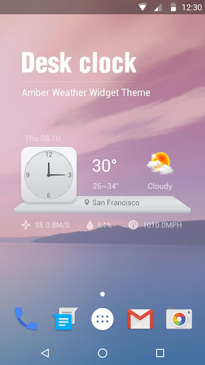 Analog Clock Weather Widgets