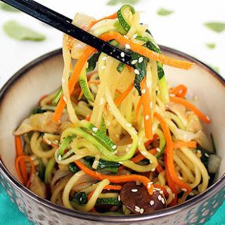 Vegan Zucchini Noodle Japchae
