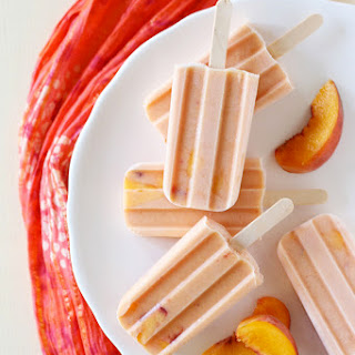 Peaches & Cream Popsicles.
