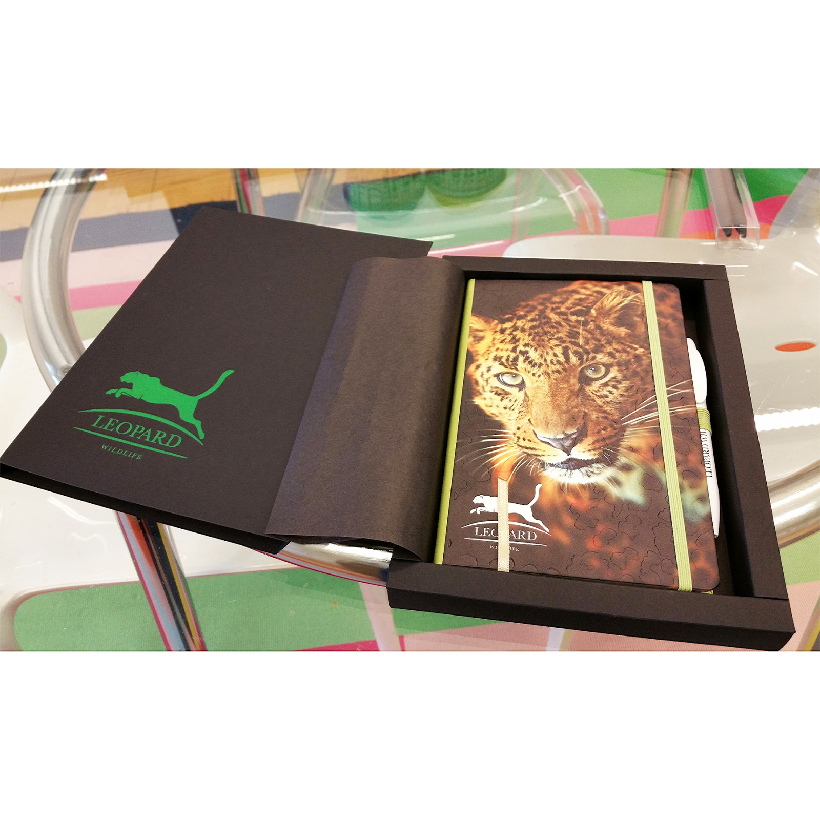 Notebooks with custom printed and embossed covers