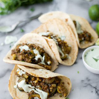 Vegan Zucchini and Lentil Tacos