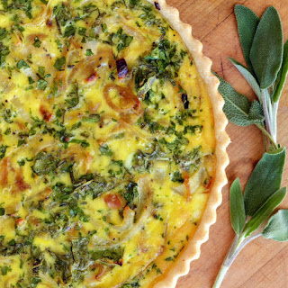 Caramelized Onion, Goat Cheese and Herb Pie