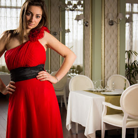 by Pricope Alex - People Portraits of Women ( girl, red, dress, woman, portrait )