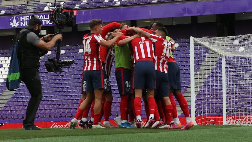 El Atlético de Madrid gana la Liga remontando en Valladolid.