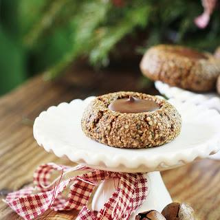 Gingerbread Hemp Seed Thumbprint Cookies with Chocolate {vegan, grain free, gluten free, nut free}