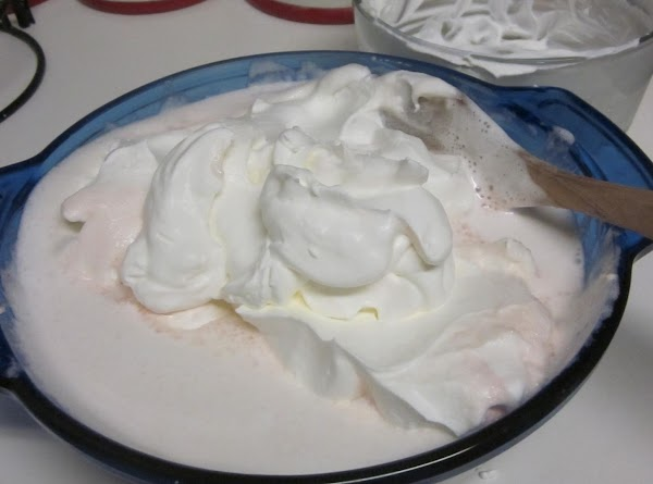Gently, fold the whipped Whipping Cream into the rest of the ingredients.
